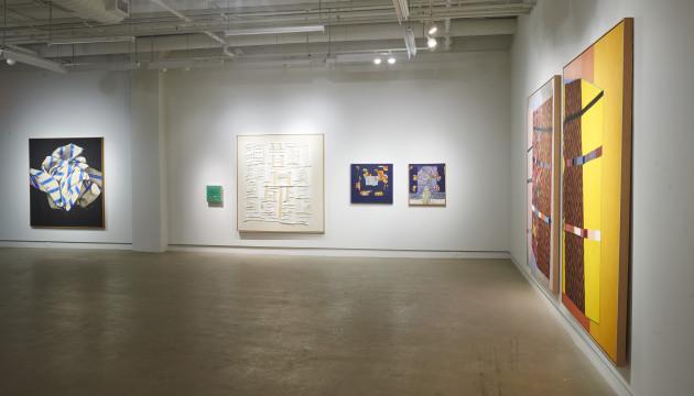 Vue d'exposition. L'image-matière de Benoit Blondeau à Occurence, espace d'art et d'essai contemporain, février 2015. Crédits photographiques : Gabriel Rancourt