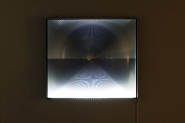 Vue de l'exposition Point de vue / point de fuite, IvanovStoeva – Point de vue / point de fuite (2015), à la Galerie Art Mûr du 7 novembre au 19 décembre. Crédit photo : Michael Patten.