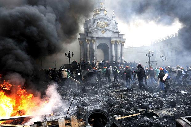 Kiev. Place de l'indépendance (Maïdan). Photo AFP/LOUISA GOULIAMAKI