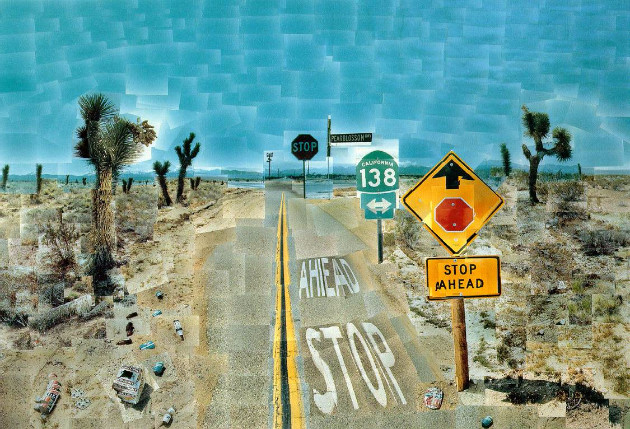 Collage photographique de David Hockney. http://www.hockneypictures.com/home.php