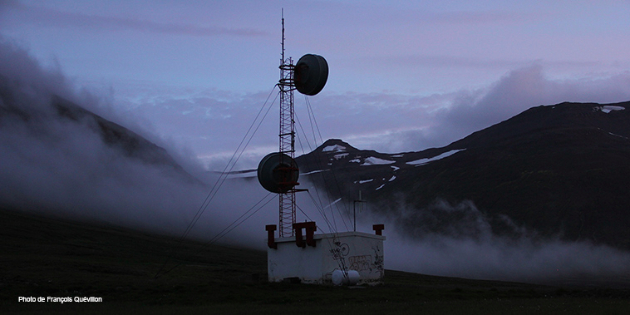 3. François Quevillon. En attendant Barðarbunga, vitrine de la Manif d'art.