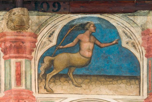 Figure 2. Centaure (des Lapithes?), Salone au Palais de la Raison (Padoue), v. 1420. © Photo : Daniel Garneau