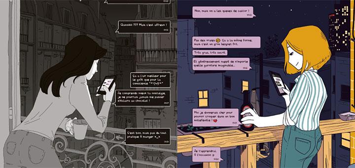 L'alternance entre les deux récits. Source: AfterMangaverse.net